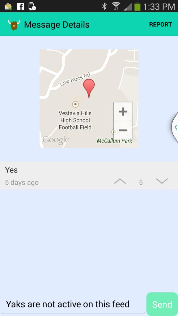 yik yak location