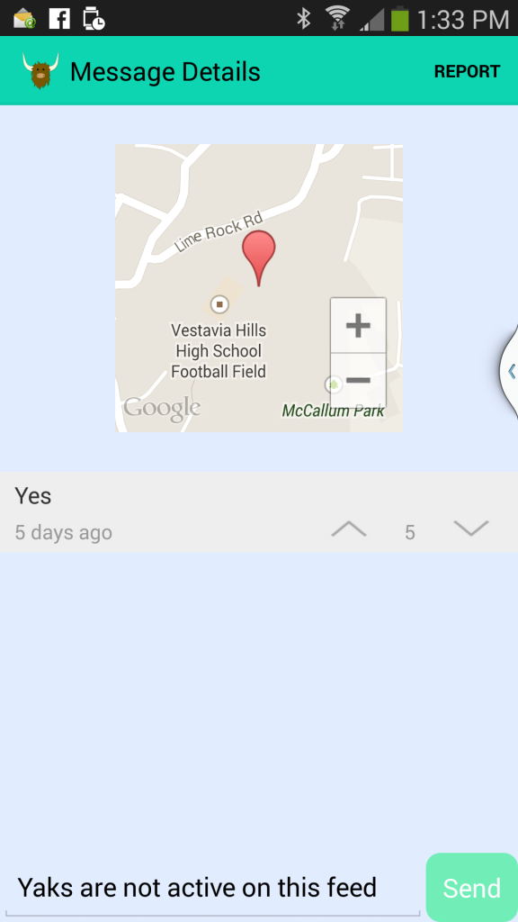 yik yak location