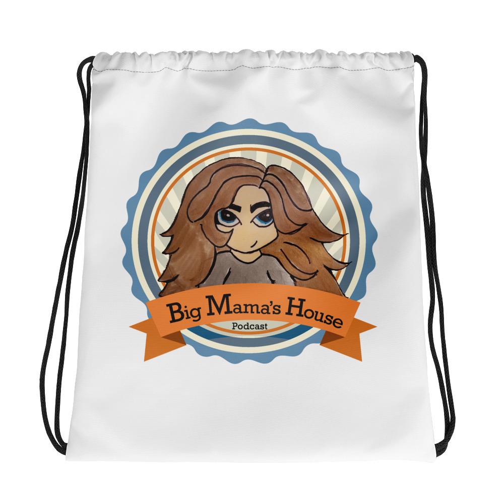 Drawstring bag – Big Mama's House Podcast Logo